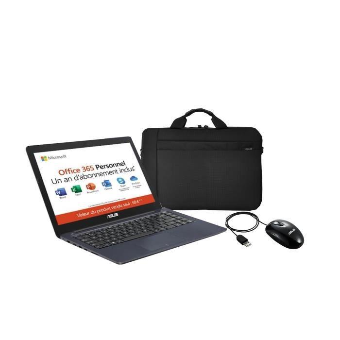Asus pc portable e402yaga113ts 14hd amd e2 7015 ram 4go stockage 64go amd radeon r2 graphics win10sacochesourisoffice 365 perso