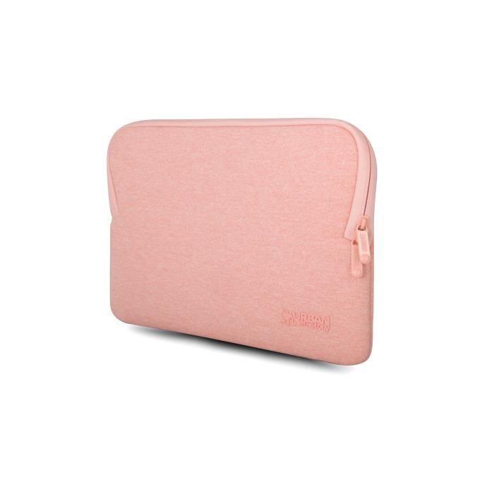 Urban Factory - Housse de protection rose avec mémoire de forme pour notebook 15,6''