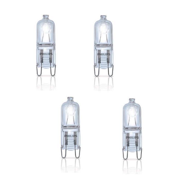 PHILIPS Lot de 4 ampoules Ecoclassic G9 18 W équivalent à 25 W