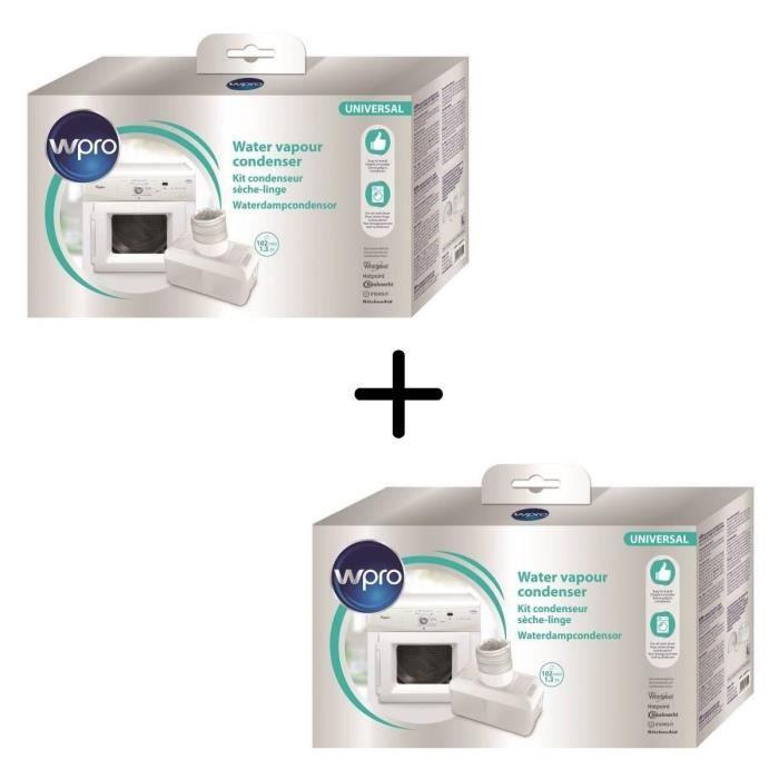 PACK WPRO UCD003 Condenseur universel pour sèche-linge X2
