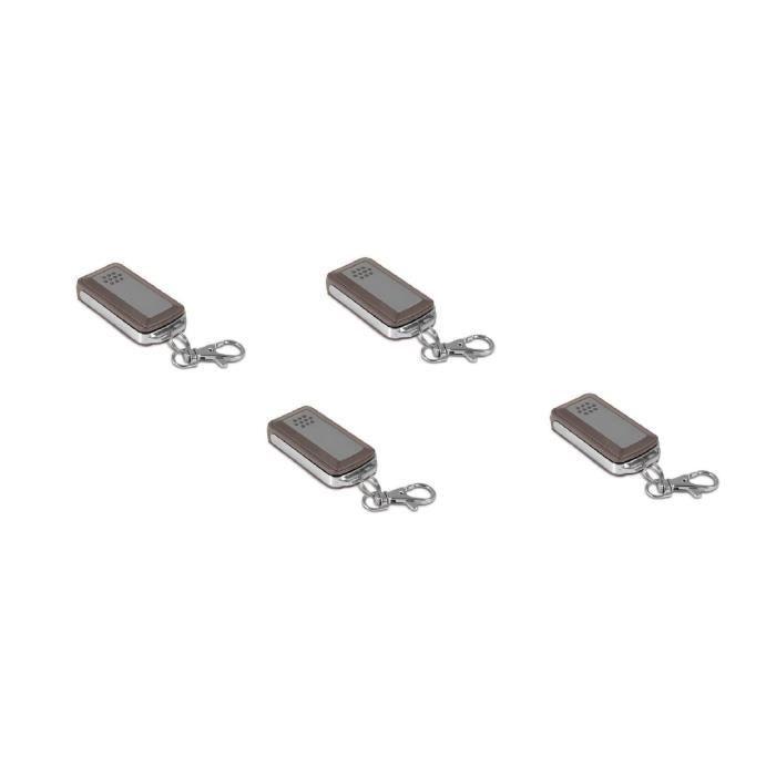 AVIDSEN Lot de 4 télécommandes 4 touches pour motorisations de portail et porte de garage 114253