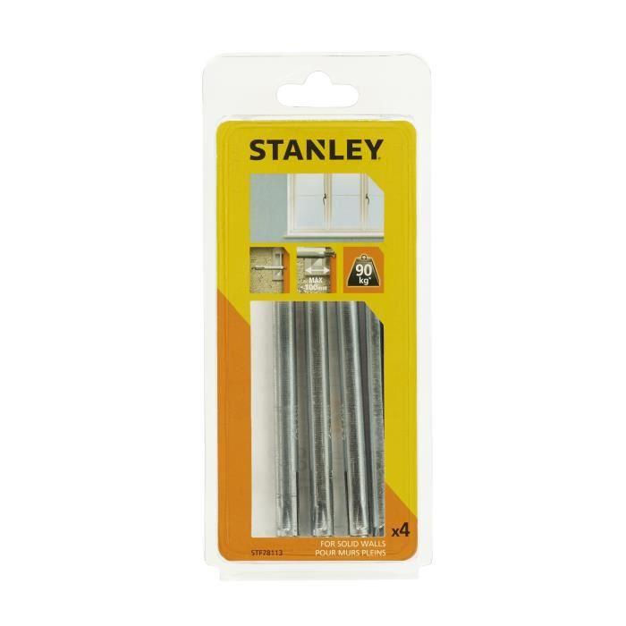 STANLEY Kit encadrement de 4 fixations pour fenêtre STF78113-XJ