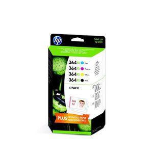 CARTOUCHE IMPRIMANTE HP 364XL Pack de 4 cartouches d'encre Noir/Cyan/Ma