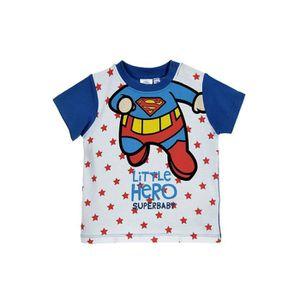 T-SHIRT DC COMICS T-shirt Manches Courtes Sérigraphié Bleu