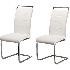 CHAISE DYLAN Lot de 2 chaises de salle à manger - Simili