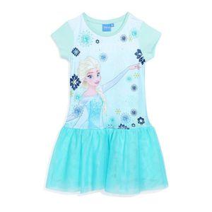 ROBE LA REINE DES NEIGES Robe Bleu Enfant Fille Sérigra