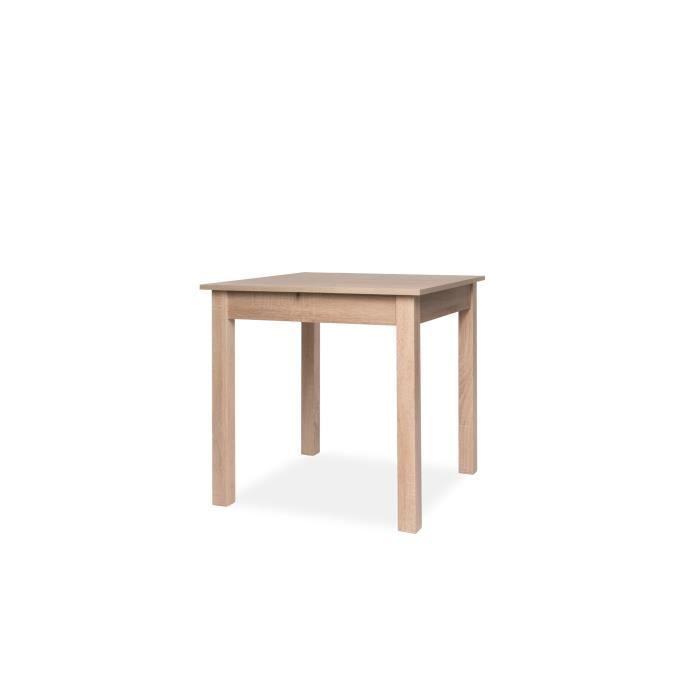 COBURG Table à manger extensible de 4 à 6 personne classique décor chêne -  L 80-120 x l 80 cm 0e7f2e57d7fe