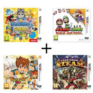 JEU 3DS Pack 4 jeux 3DS : Wario Ware Gold + Mario & Luigi