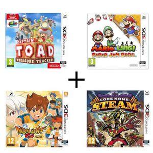 JEU 3DS Pack 4 jeux 3DS : Captain Toad Treasure tracker +