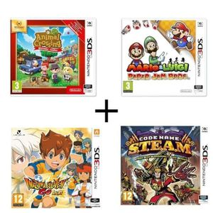 JEU 3DS Pack 4 jeux 3DS : Animal Crossing New Leaf Welcome