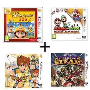 JEU 3DS Pack 4 jeux 3DS : Super Mario Maker + Mario & Luig