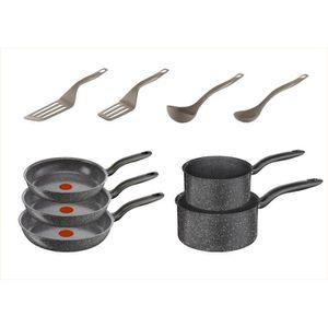 batterie de cuisine tefal achat vente batterie de cuisine tefal pas cher cdiscount. Black Bedroom Furniture Sets. Home Design Ideas