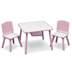 TABLE ET CHAISE DELTAKIDS - Ensemble Table et 2 Chaises Bois Enfan