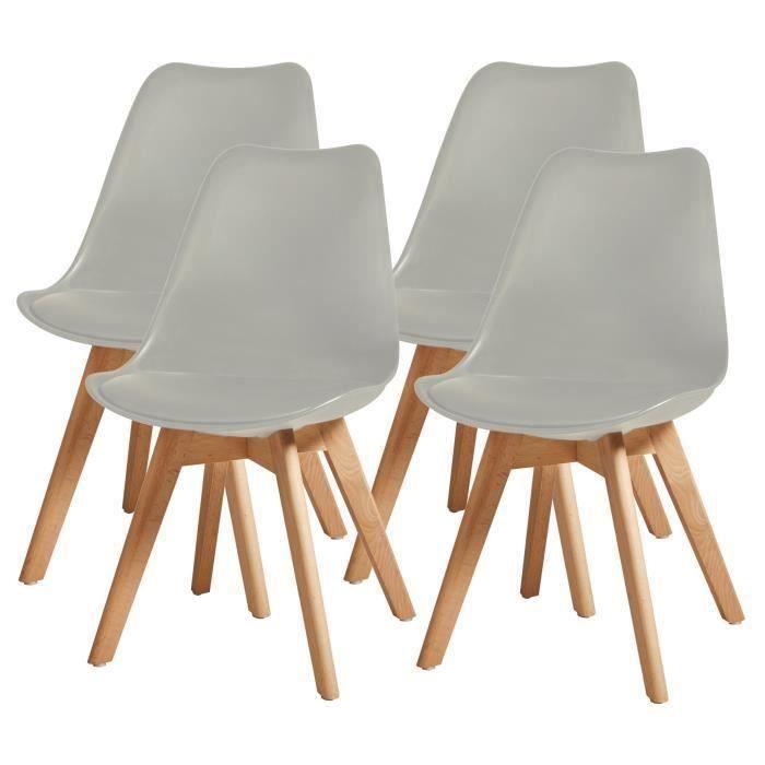 bjorn lot de 4 chaises de salle manger simili - Chaise Scandinave Cuir