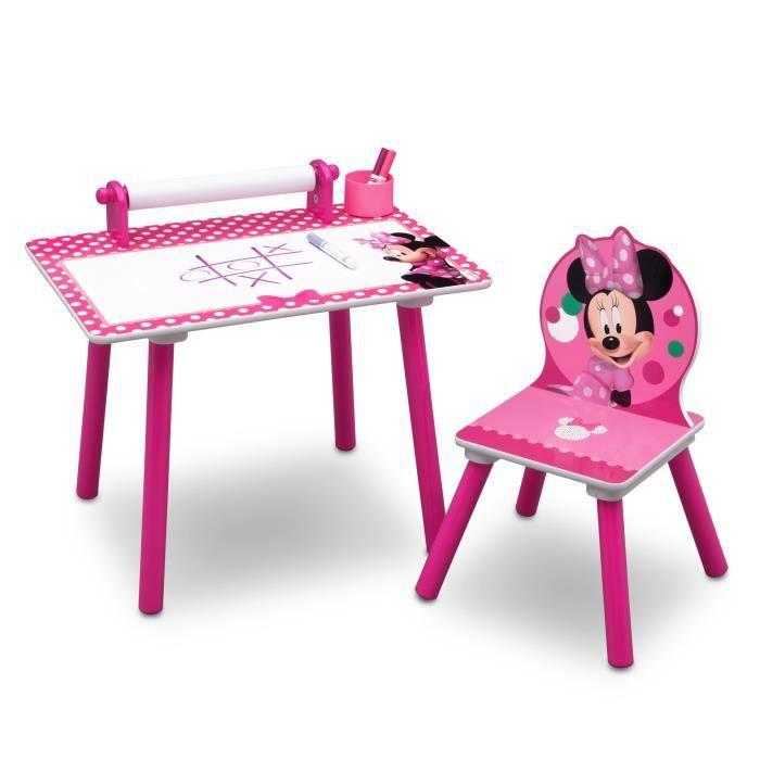 Minnie Table De Coloriage Enfant Rose Et Multicolore Achat