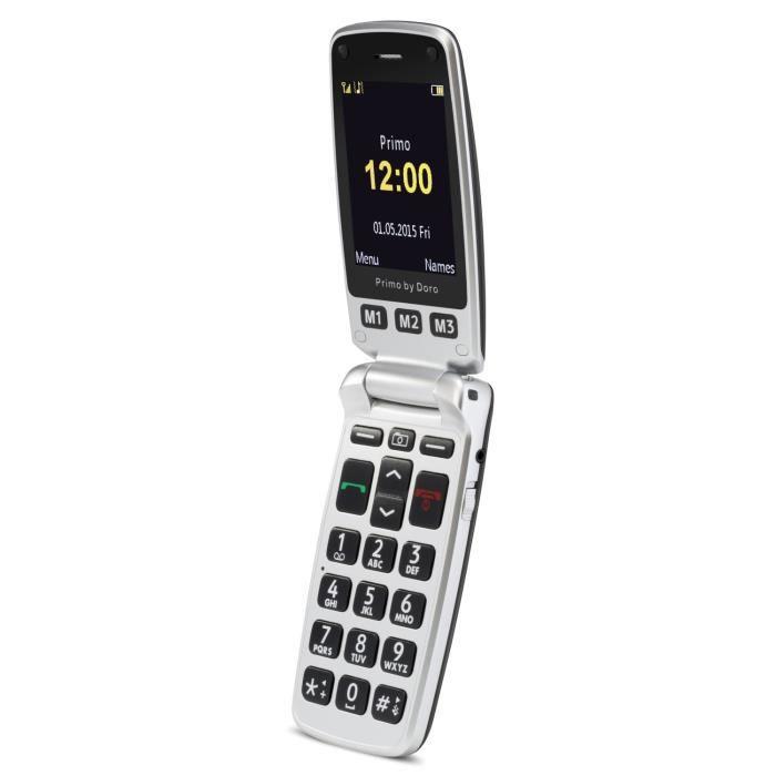 Doro Primo 413 Noir Téléphone Senior Achat Téléphone Portable