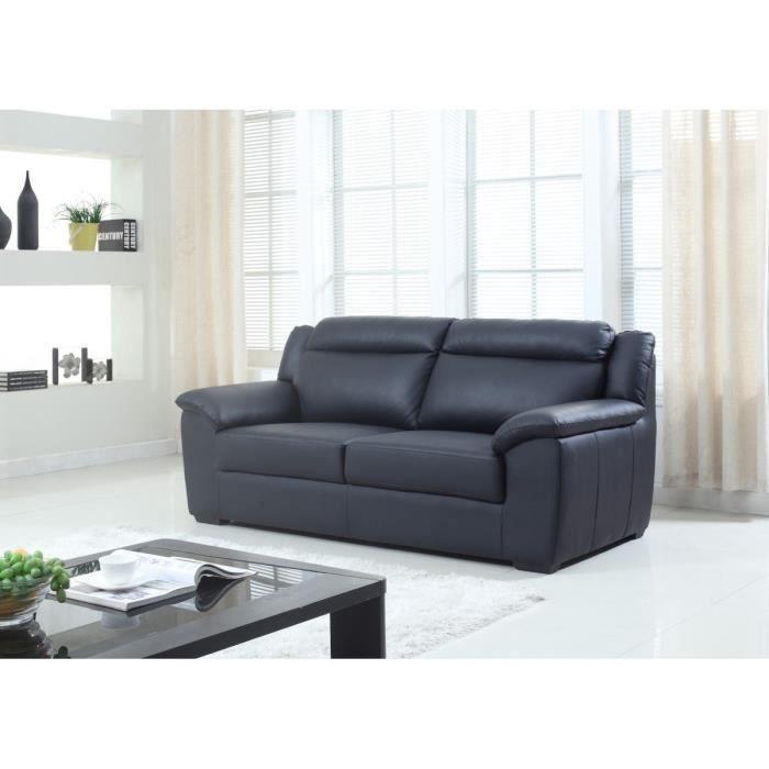 milano canap fixe en cro te de cuir et simili 3 places. Black Bedroom Furniture Sets. Home Design Ideas