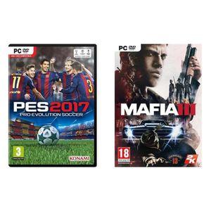 JEU PC PES 2017 + Mafia III Jeux PC