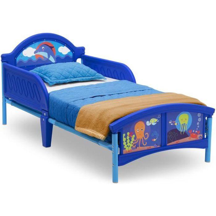 STRUCTURE DE LIT DELTAKIDS - Lit Enfant en Métal et Plastique - Océ