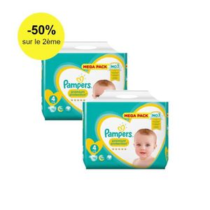COUCHE Pampers Premium Protection Taille 4 - 9 à 14 kg, 1
