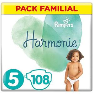 COUCHE PAMPERS Harmonie Taille5, 11 kg+, 108 Couches (3x