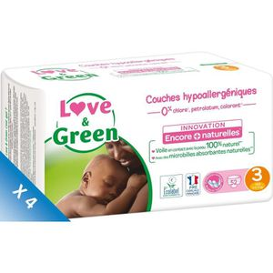 COUCHE LOVE AND GREEN Couches Pack 1 mois - Taille 3 - De