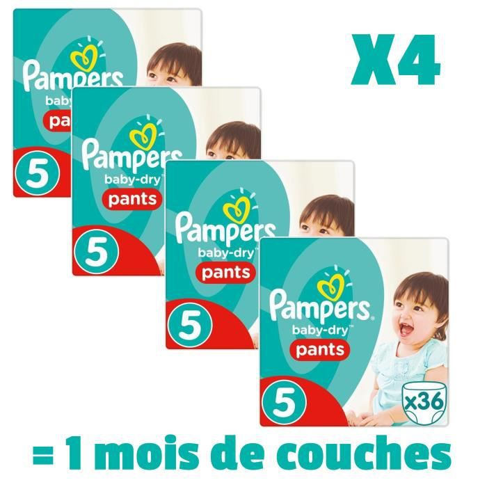 COUCHE PAMPERS BABY DRY PANTS Taille 5 - 144 couches - Pa