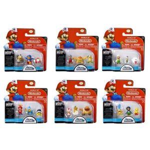 FIGURINE - PERSONNAGE Pack de 3 micro Figurines Mario Nintendo - Modèle