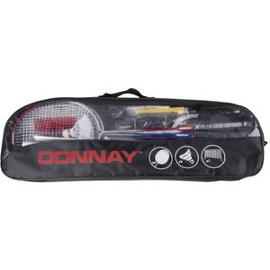 DONNAY Kit Badminton avec Filet Raquettes et Volant
