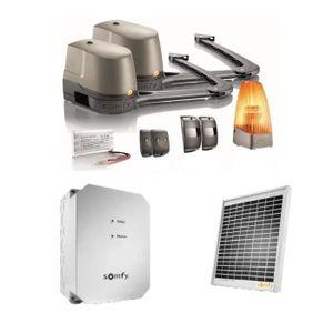 SOMFY Kit de motorisation de portail ? bras Evolvia 400 pour portail battant avec son kit d'alimentation solaire
