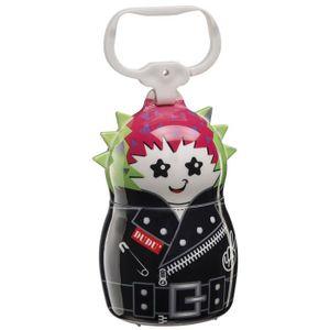 FERPLAST Dudu' People Punk Support pour sachets hygiéniques en plastique 5,5x9cm - Noir, rose et vert - Pour chien