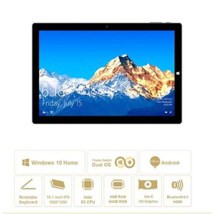 TABLETTE TACTILE Tablette 10,1 pouces Windows 10 Android 5.1 Androi