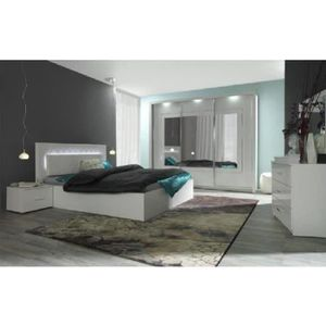 Chambre adulte complet blanc laquee - Achat / Vente pas cher