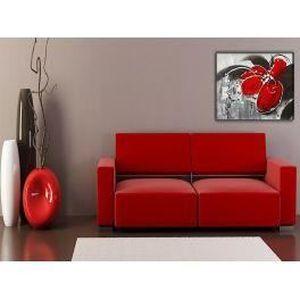 tableau fleur rouge achat vente tableau fleur rouge pas cher cdiscount. Black Bedroom Furniture Sets. Home Design Ideas
