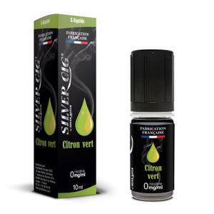 LIQUIDE E-liquide SilverCig Citron Vert 0 mg E-liquide Cig