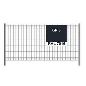 CLÔTURE - GRILLAGE Kit de 20ml de clôture rigide comprenant : 8 panne