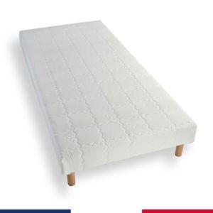 SOMMIER Sommier tapissier 140x190 lattes bois massif