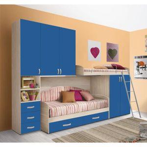 CHAMBRE COMPLÈTE  Chambre d'enfant complète HURRA combiné lits étage