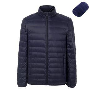 Hommes Down Jacket 90% Canard Blanc Doudoune Mode Légère Parka Zippée  Manche Longue Hiver Compression e4e02f25728f