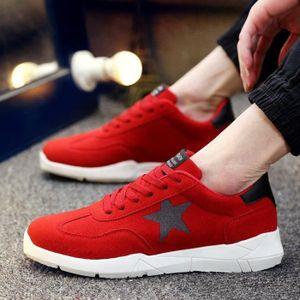 176039abe56bb Chaussures De Tennis Homme Mode Pour Lacets Poids LéGer Plus De RéSist  Souple Contre Les Chocs Respirante Haute Qualité rouge 43