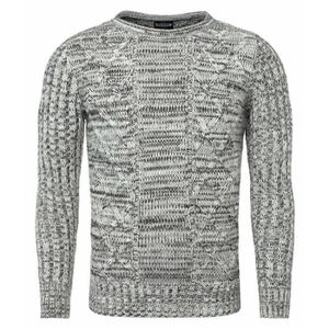 PULL Pull tendance homme Pull 7488 gris mélangé