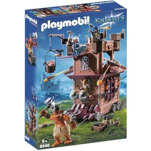 FIGURINE - PERSONNAGE PLAYMOBIL 9340 - Knights - Tour d'Attaque Mobile d