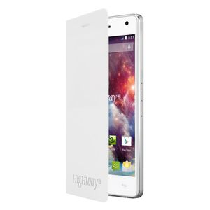 COQUE - BUMPER Wiko Folio stand back cover blanc pour Highway 4G