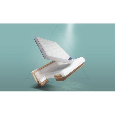 Pack Lit Complet Design White Sans Chevet Achat Vente Chambre