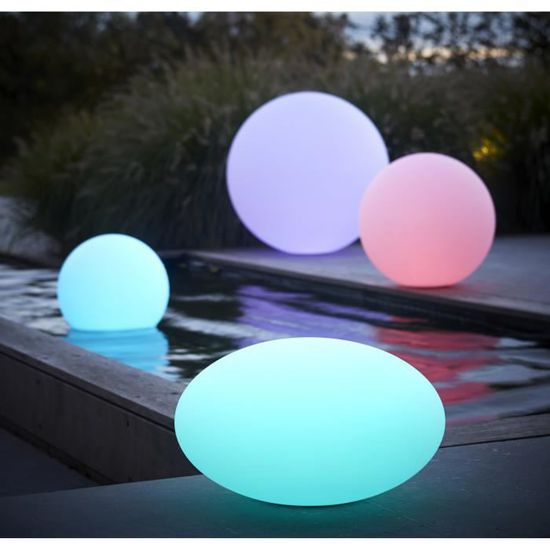 BOULE LUMINEUSE RONDE 60 CM Lampe de jardin design - Achat ...