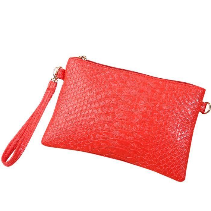 Napoulen®Mode serpent modèle sac à main en cuir monnaie pochette téléphone pour femme-XPP11127009
