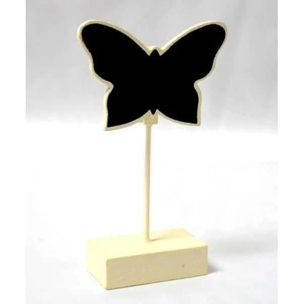 Décors de table 6 Marque-place ivoire ardoise papillon, bonbonnièr
