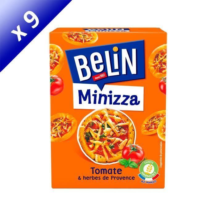 BISCUITS APÉRITIF Belin Crackers Minizza Tomate 85g - LOT DE 9