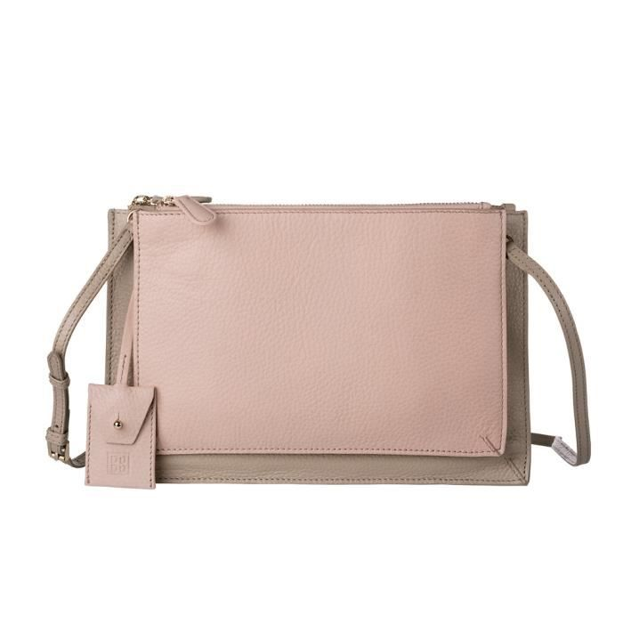 Pochette DuDu Unique Oxford Lucy - Nude-Sable Un sac moderne à lâme young, parfait pour avoir sur soi lessentiel. Design léger et
