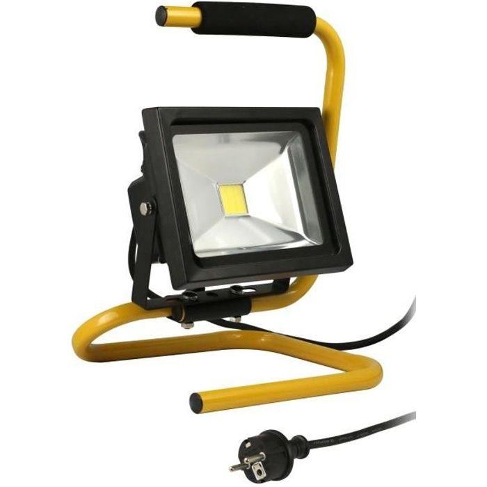 Projecteur De Chantier Led 20w Portable Cable Achat Vente